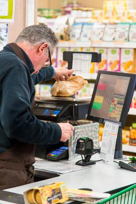 Caisse enregistreuse supermarche epicerie magasin Bio | SMOB