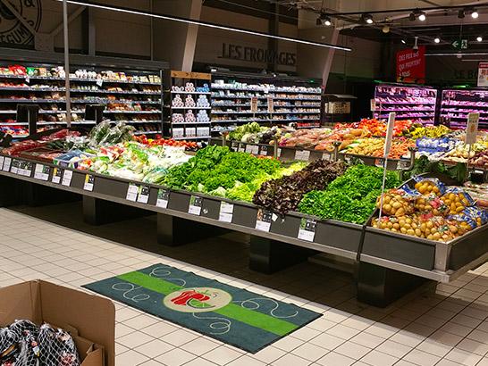 Agencement meuble fruits et légumes