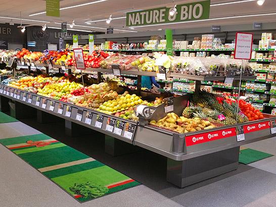 Solutions de meubles pour fruits et légumes