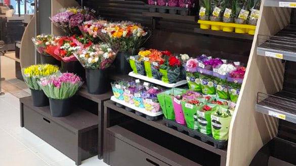 Mobilier vente de fleurs pour magasin